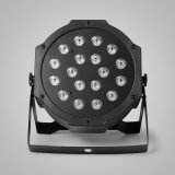 2PCS 18 X 1W RGB LEDの段階ライト平らな同価DMX-512のレーザー光線