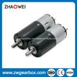 12V, 24V DC pequeño motor de engranajes rectos con caja de cambios