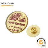 광저우 승진 선물에 의하여 주문을 받아서 만들어지는 금속 스테인리스 철 접어젖힌 옷깃 Pin 기장