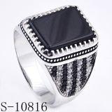 Imitatie Juwelen 925 Zilveren Ring met Agaat