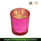 Изображение большего размера стекла ртути Tealight держателя при свечах на Рождество оформление