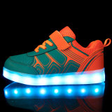 3 cores PU Lazer e conforto LED Light Up Kids Shoes