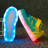 3개의 색깔 PU 여가에 의하여 & 안락 LED는 위로 농담을 한다 단화가 점화한다