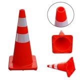 سميك ليّنة بلاستيكيّة حركة مرور مخروط (24 أو [48-بك], أحمر, اللون الأزرق, اللون الأخضر, برتقالة, صفراء)