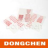 Design personalizado Etiqueta impressa auto-adesiva de plástico transparente