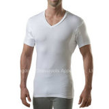 Camisola de manga comprida Anti-Sweat Slim Fit V Neck T-Shirts