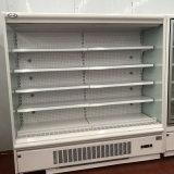 Tienda de ultramarinos Refrigerador Supermercado Refrigerado Vitrina Refrigerador frontal abierto