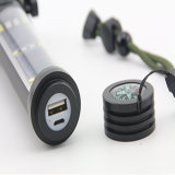 Tocha elétrica solar transportável poderosa do diodo emissor de luz com USB