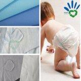 Nonwoven 100% de Spunbonded del polipropileno de la materia prima del pañal del bebé