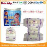 Tecido do bebê de Olivia, fabricante da fralda do bebê em China