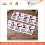 Impreso de PVC / papel de la etiqueta auto-adhesivo de impresión de etiquetas de código de barras etiqueta engomada transparente