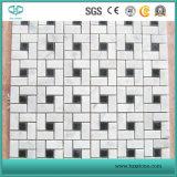 Mosaico blanco, mosaico negro, mosaico de mármol, mosaico de piedra