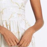 Повелительницы фасонируют сексуальную напечатанную V-Шею отбортовывающ платье выскальзования