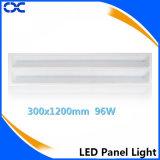 Material de aluminio de la lámpara del cuerpo 96W LED luz del panel de techo 300x1200