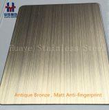 骨董品によって着色される真鍮の銅の上塗を施してあるステンレス鋼の版シート