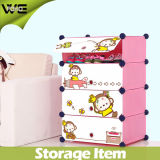 Home Cartoon Mokyo Pattern Plastic Shoe Storage Organizer Cabinet