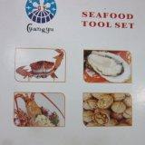 Нож устрицы 4 утварей Shellfish комплекта инструментов продуктов моря PCS
