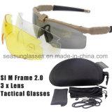 Lentilles militaires des lunettes 3 ou 5 enduisant les glaces tactiques Eyeshield de lunettes de soleil d'armée pour le tir d'Airsoft de jeu de guerre