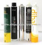 Kosmetik-verpackenhandsorgfalt-Haar-Farben-Sahne-leeres zusammenklappbares Aluminiumgefäß