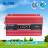 Inversor modificado 2000W da potência de onda do seno de Suoer 12V (SDB-2000A)
