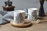 Tazas de café del té de la porcelana del diseño 12oz
