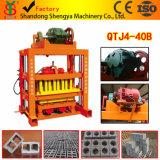 Machine creuse concrète de bloc de vibration semi automatique de moulage du certificat Qtj4-40 d'OIN
