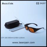 O. D6+ @200-540nm láser Q-Switched y O. D5+ @900-1100nm Nd: YAG Gafas de protección con el bastidor 33