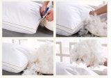 Almohada de lujo 70% Pluma de pato 30% Almohada de pluma Funda de almohada de algodón interior con tuberías