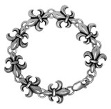 [بونك] [تيتنيوم] فولاذ مجوهرات رجال أساور مرساة فضة