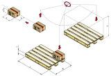 Automatischer palettierenstapelnder Roboter für Kartone und Beutel