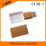 Azionamento trasparente della penna del USB del USB dell'azionamento di legno di cristallo dell'istantaneo con il laser