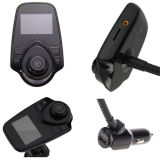 Chargeur mains libres de l'écran LCD USB de la radio FM de Bluetooth de lecteur audio du véhicule MP3 de modulateur de nécessaire émetteur FM de véhicule pour l'iPhone Samsung