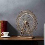 ホーム装飾のためのハンドメイドの錬鉄の金属の観覧車の彫像グランデ博覧会のテーブルトップの装飾