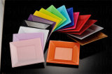 7'' (18cm) S071819 PS jetables en plastique plaque carrée colorés