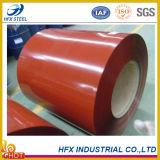 Dx51d laminó la bobina de acero cubierta color