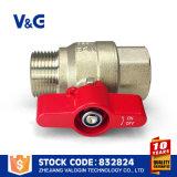 Válvula de agua de latón de aluminio con empuñadura de la mariposa (VG10.99761)
