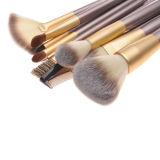 профессиональная косметика 12PCS/Set чистит комплект щеткой щетки состава волос деревянной ручки синтетический