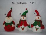 "21 ""H Standing Santa and Snowman, 3 Décoration Asst-Christmas"