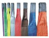 Imbracatura della tessitura della gru di /Flat della piega dell'occhio del poliestere della tessitura Sling/100% e del doppio dell'occhio per il sollevamento/pianamente imbracatura della tessitura con la striscia di capienza