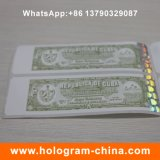 Collant de papier estampé chaud personnalisé d'hologramme de modèle