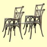 Chaise de banquet de mariage en bois massif en chêne massif en bois de style français (RCH-4001-5)