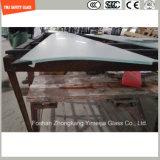 het Af:drukken Silkscreen/het Zuur van 319mm etst/de Berijpte/Onregelmatige Gebogen Aangemaakte Veiligheid van het Patroon/Gehard glas voor Bouw/Douche met SGCC/Ce&CCC&ISO- Certificaat