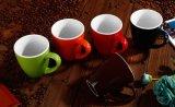 도매 창조적인 12oz 2 음색 세라믹 블랙 커피 찻잔