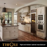 中国の品質の台所メーカーTivo-0074hからのシェーカー様式の贅沢で標準的な純木の食器棚