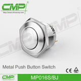 16mm de Lichte Schakelaar van de Drukknop van het Roestvrij staal (MP016S/FJ)