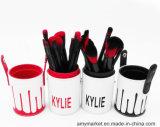 Цвет 12PCS/Set коробки PU цилиндра комплекта щетки состава Kylie черный и красный