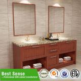 中国の工場純木のカスタム浴室の虚栄心