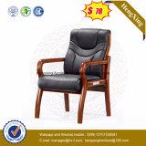 Стул визитера Stock цвета черноты офисной мебели деревянный кожаный (Ns-CF032)