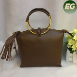 As bolsas de couro Real Pendão Fashion Lady Saco a tiracolo com argola redonda de Metal Emg4823