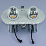 Le bon modèle double rotatif de 360 degrés dirige 2*9W l'ÉPI DEL Downlight